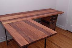 Wooden L Shaped Desk Design
