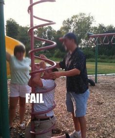 Kid Gets Stuck in Play Park