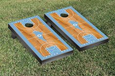 UNC Tar Heels Basketball Court Cornhole Game Set