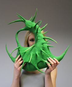 Felted handbag Cactus II by doseth on Etsy!This will absolutely poke everybody's eye if i were to wearing it