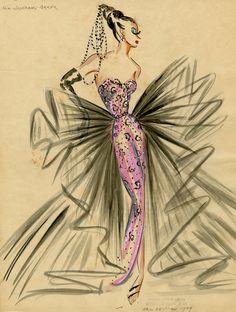 Costume designs by Eric de Juan, 1949, for Josephine Baker.