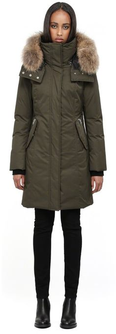 Mackage Kerry Long Army Winter Down Parka With Fur Hood on shopstyle.com