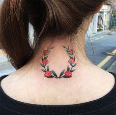 Zihee Tattoo, Coréia do Sul, Tatuagens coloridas sem contorno;