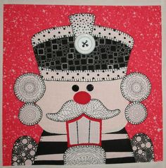 Quilt Inspiration: 'Tis the season: Nutcracker quilt block by Karen Snyder, design by Amy Bradley