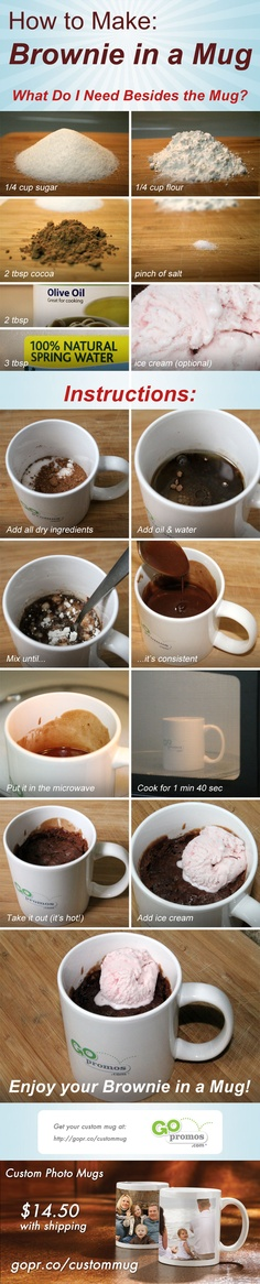 Make a brownie in your dorm microwave! #collegehacks #college