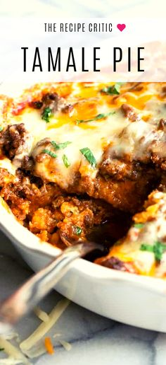 Tamale Pie Casserole Tamale Pie is a juicy ground beef on top of a cornbread crust, all drenched in a bold enchilada sauce. This casserole recipe is an easy spin on tamales making it perfect for a weeknight dinner. Beef Tamale Pie, Tamale Recipe, Tamale Pie Recipes, Recipe For Tamales, Mexican Tamale Pie Recipe, Cornbread Tamale Pie Recipe, Ground Beef Tamales Recipe, Cheesy Cornbread, Ground Beef Enchiladas
