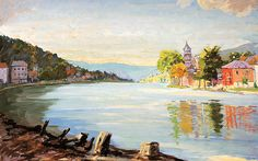Scene on the River Meuse 1946-47 by Sir Winston