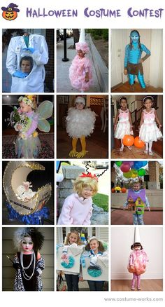 Homemade Costumes for Girls/ Miss those Days When my girls were little. These are so stinking cute.....