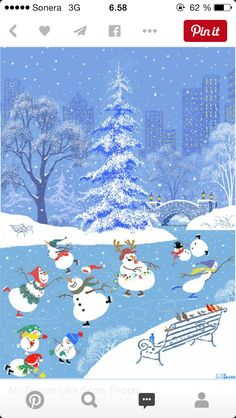 ☆ It's Christmas time in the city ~ Snoopy Christmas, Merry Little Christmas, Vintage Christmas Cards, Christmas Images, Christmas Snowman, Christmas Time, Christmas Things, Christmas Tattoo, I Love Winter