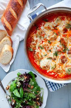 Baked Chicken Parmesan Meatballs Recipe @ http://juliescafebakery.com/category/chicken/ #chicken #recipes #cooking #baking