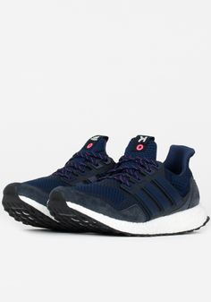 adidas Consortium Ultraboost X Kinfolk - Navy Ultraboost, Kinfolk, Shades Of Blue, High Top Sneakers, Adidas Sneakers, Navy, Clothing, Leather, Shoes