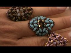 "tutorial anello ""Soraya"" con superduo ( ""Soraya ring"") english subtitles - YouTube"