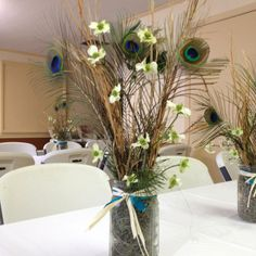 Peacock Table Decoration