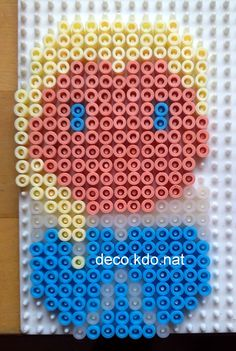 Chibi Elsa  - Frozen hama beads by Deco.Kdo.Nat