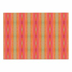 KESS InHouse Nika Martinez 'Summer Tie Dye' Coral Red Dog Place Mat, 13' x 18' ** You can get more details here : Dog food container