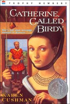 Catherine Called Birdy, a newberry honor award winner, is a historical fiction novel about a girl whose father wants to marry her off to a man ASAP, but she has other ideas. This book is about maturing and coming of age.