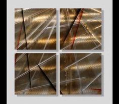 Crusade - Modern Abstract Painting Metal Wall Art Home Decor by Jon Allen: Contemporary Metal Art Sculptures by Jon Allen