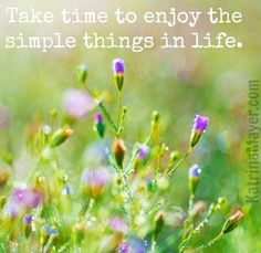 Simple things in life quote via www.KatrinaMayer.com