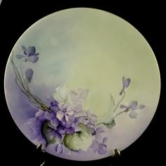 Limoges Antique Decorative Plate Violets by ClassicEndearments, $29.99