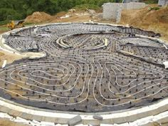 hydronic underfloor heating going into Kevin McCabe's Zero Carbon House