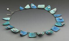 Enameled necklace by kathryn riechert