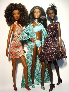 Black Dolls, Ethnic Dolls, Black Barbie Dolls, Custom Barbie Dolls