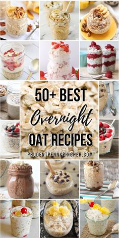 50 Best Overnight Oats Start your morning off right with these healthy overnight oats. From strawberry to peanut butter flavors, there are plenty of easy overnight oat recipes perfect for breakfast meal prep. Healthy Diet Recipes, Healthy Food Choices, Oatmeal Recipes, Healthy Breakfasts, Eating Healthy, Healthy Snacks, Clean Eating, Best Overnight Oats Recipe, Easy Overnight Oats