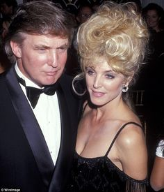 """Old flame: Trump and Marla Maples (pictured together  in New York in 1991) were married from 1993 to 1999, however she was his mistress for several years before 1993 and in fact gave birth to their daughter Tiffany """"out of wedlock""""."""