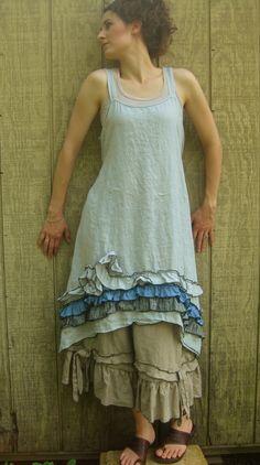 Volantes y vestido de Swirly