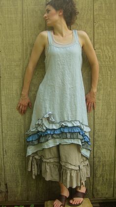 Ruffle And Swirly Dress by sarahclemensclothing on Etsy, $149.00