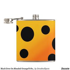 Black Dots On Blended OrangeToYellow Flasks