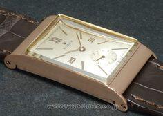 40's ROLEX 14KRG Art-deco Rectangular Roman index Private Eye, Vintage Rolex, Square Watch, Roman, Art Deco, Accessories, Art Decor, Jewelry Accessories