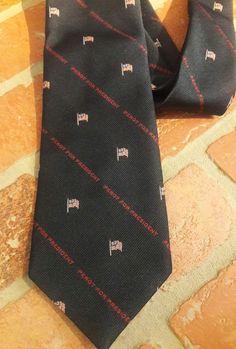 1992 Ross Perot For President Necktie Patriotic American Flag Political GOP TIE #Alynn #Tie