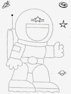 Crafts,Actvities and Worksheets for Preschool,Toddler and Kindergarten.Lots of worksheets and coloring pages. Astronaut Craft, Astronaut Drawing, Space Theme Preschool, Space Activities, Tracing Worksheets, Preschool Worksheets, Handwriting Worksheets, Printable Worksheets, Art Drawings For Kids