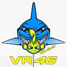 Valentino Rossi Shark Attack Misano Helmet T-Shirt T-Shirt   Spreadshirt