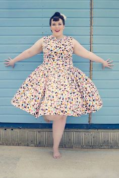 1950's Style Liquorice Allsorts Dress - Silly Old Sea DogSilly Old Sea Dog