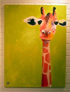 Original Painting Large Giraffe 30x40 Gordon by LoganBerard on Etsy