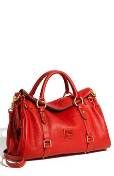Dooney & Bourke 'Florentine' Vachetta Leather Satchel. I didn't used to like this brand, but this purse is really nice.