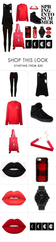 """""""#8  Black&Red"""" by anna-daddario ❤ liked on Polyvore featuring River Island, Solid & Striped, G.V.G.V. Flat, adidas, Leatherbay, Casetify, Lime Crime, Breda, WALL and NIKE"""