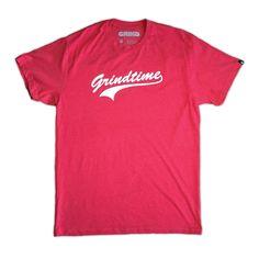 Grindtime Baseball Tee (Red)