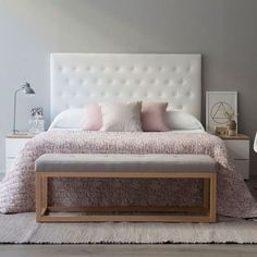 #inspiration #décoration #chambre #bedroom #blanc #rose #minimaliste #White #Pink
