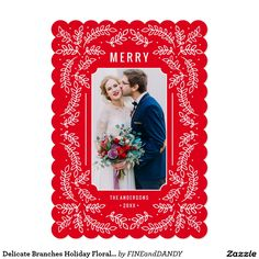 Send holiday cheer with a festive photo card! This festive design features delicate holiday branches against a bright christmas red background. Christmas Photo Cards, Christmas Photos, Red Christmas, Holiday Cards, Create Your Own Invitations, Red Background, Zazzle Invitations, Branches, Delicate