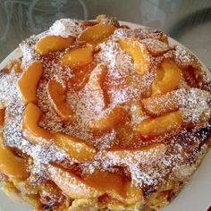 Greek Sweets, Greek Desserts, Chocolate Sweets, Love Chocolate, Sweets Recipes, Cooking Recipes, Peach Cake, Pavlova, Afternoon Tea