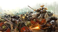 Crusaders of Dorn, Dmitry Burmak on ArtStation at https://www.artstation.com/artwork/4vzPl