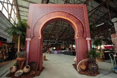 <p> A mosaic archway mimicking those from the streets of Morocco welcomed guests into the event.</p>