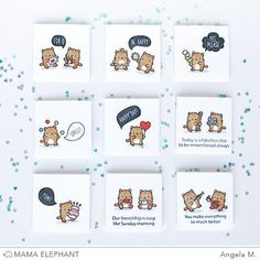 """Little Cat Agenda joins our series of """"Little"""" stamps - like Little Emotions and Little Edibles. They are perfect for planners and just the right size for tags!"""