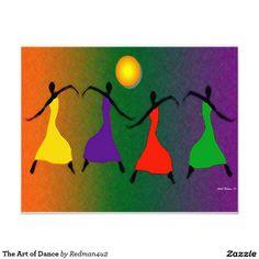 The Art of Dance 11 Cm X 14 Cm Invitation Card