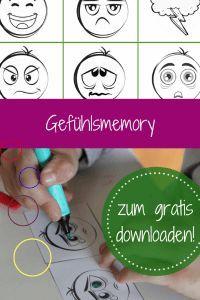 Gefühle einordnen: Memory Freebie im Herbst – gratis Download