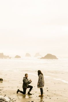 Romantic Cannon Beach Proposal Photographer at sunset on the beach in Ecola State Park. Radiant joy of candid moments worth cherishing for years to come. Beach Proposal, Romantic Proposal, Ecola State Park, Proposal Photographer, Cannon Beach, Oregon Travel, Oregon Coast, State Parks, Candid
