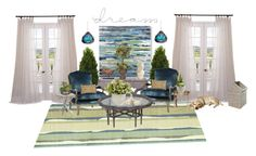 """""""room"""" by lovetodrinktea ❤ liked on Polyvore featuring interior, interiors, interior design, home, home decor, interior decorating, SANDERSON, Flamant, Pier 1 Imports and Nuevo"""